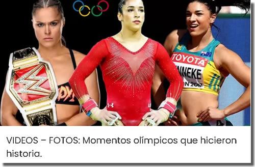 VIDEOS – FOTOS: Momentos olímpicos que hicieron historia.