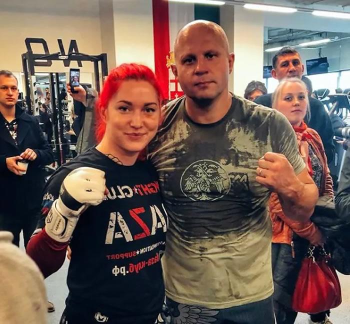 La luchadora profesional MMA Darina Madzyuk