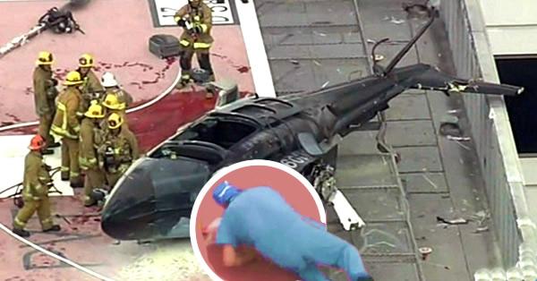 medico deja caer corazón helicóptero