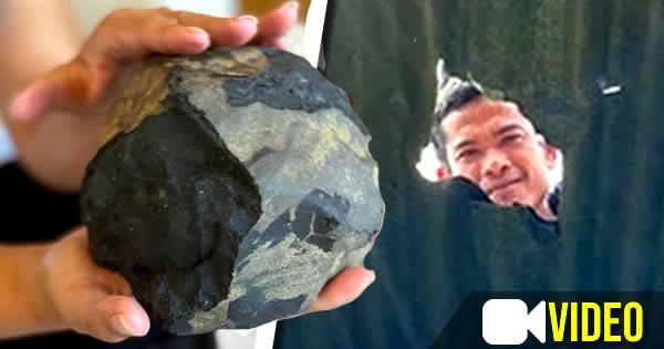 meteorito techo casa millonario