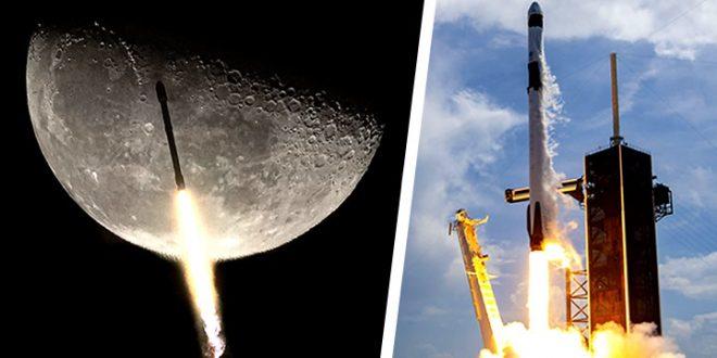 cohete falcon 9 tierra luna